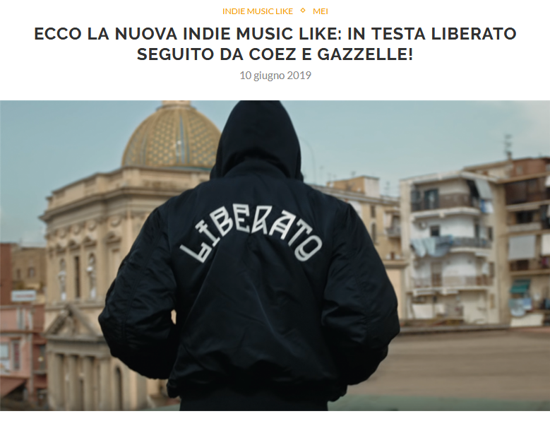 Pubblicata la nuova Indie Music Like di Giugno