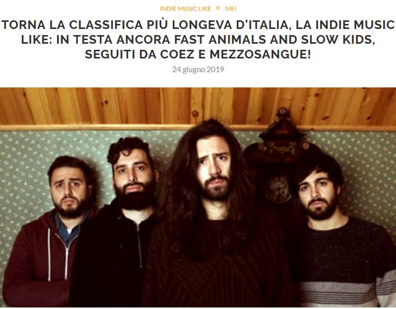 Pubblicata la nuova e ultima Indie Music Like di Giugno