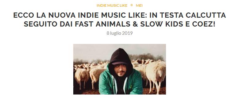 Esce la seconda Indie Music Like di Luglio