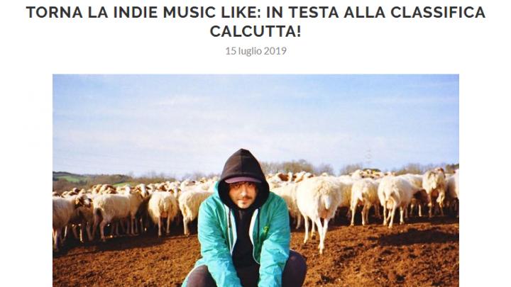 Pubblicata la nuova Indie Music Like del mese di Luglio