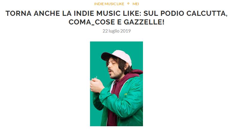 Esce la nuova Indie Music Like di Luglio
